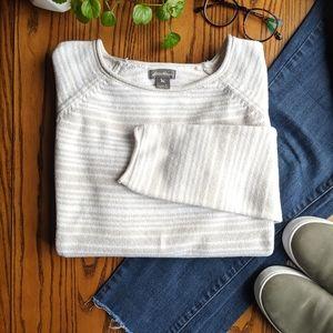 Eddie Bauer | Striped Thick Knit Sweater